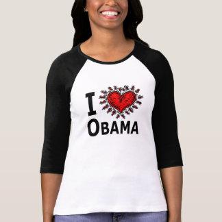 Amo la camiseta de la mujer de Obama Polera