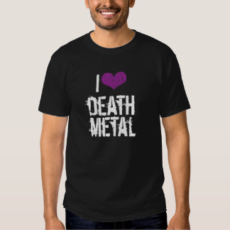 Amo la camiseta de la oscuridad del metal de la poleras