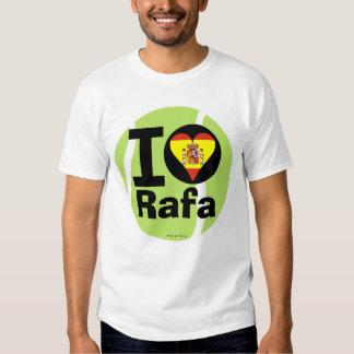 Amo la camiseta de la pelota de tenis de Rafa Polera