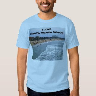 AMO la camiseta de la PLAYA de SANTA MÓNICA Playera