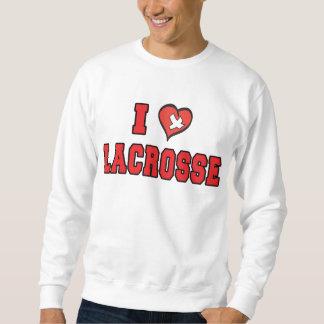 Amo la camiseta de LaCrosse Sudaderas Encapuchadas