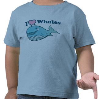 Amo la camiseta de las ballenas