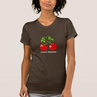 Amo la camiseta de las cerezas