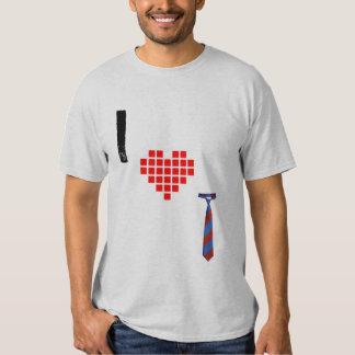 Amo la camiseta de las corbatas remeras