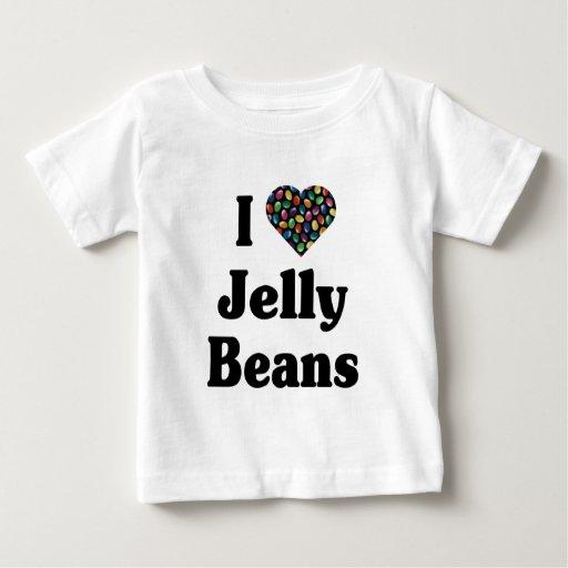 Amo la camiseta de las habas de jalea