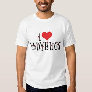 Amo la camiseta de las mariquitas remera