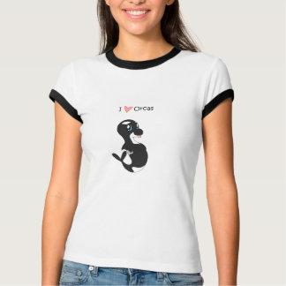 Amo la camiseta de las orcas (para mujer) playera