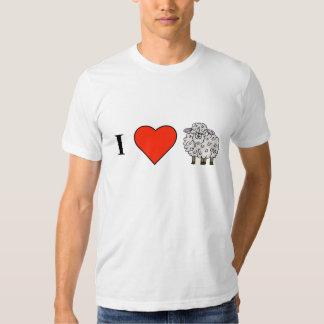 Amo la camiseta de las ovejas poleras
