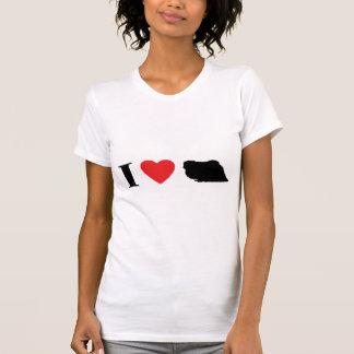 Amo la camiseta de las señoras de Pekingese Remeras