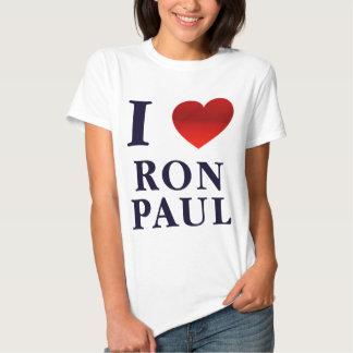 Amo la camiseta de las señoras de Ron Paul Remeras