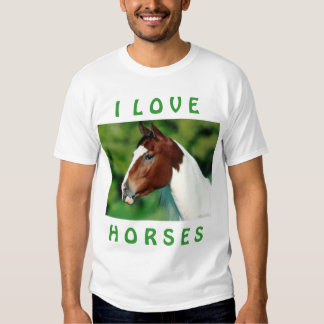 Amo la camiseta de los caballos remeras