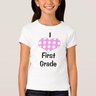 Amo la camiseta de los chicas del primer grado, polera