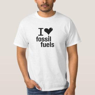 Amo la camiseta de los combustibles fósiles