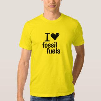 Amo la camiseta de los combustibles fósiles poleras