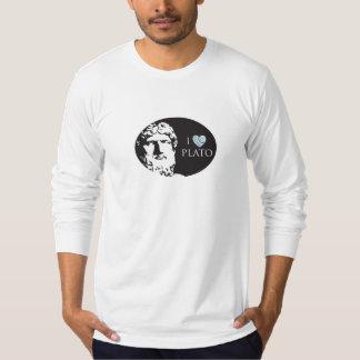 Amo la camiseta de los hombres de Platón Polera