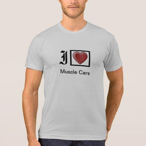 """""""Amo la camiseta de los hombres del músculo """""""