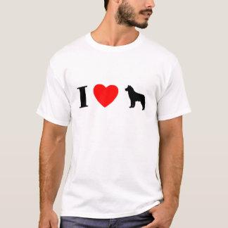 Amo la camiseta de los huskyes siberianos