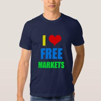 Amo la camiseta de los mercados libres poleras