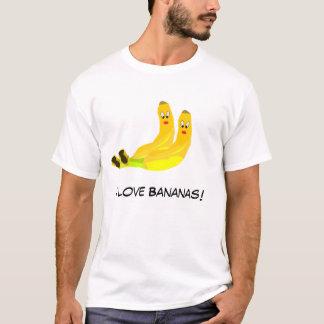 Amo la camiseta de los plátanos