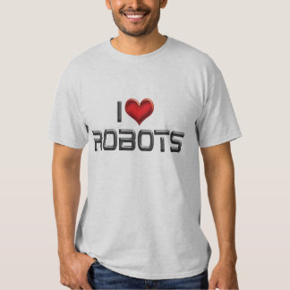 Amo la camiseta de los robots remera