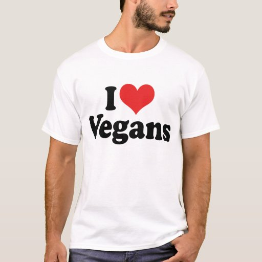 Amo la camiseta de los veganos