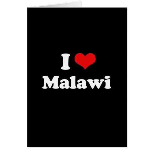 Amo la camiseta de Malawi Tarjeta