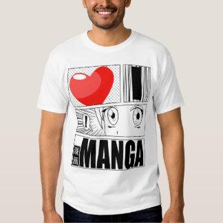 AMO la camiseta de MANGA Camisas