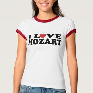 Amo la camiseta de Mozart Playera