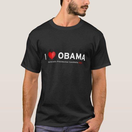 Amo la camiseta de Obama