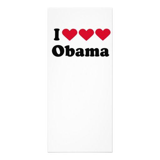 Amo la camiseta de Obama del amor del amor Lonas Publicitarias