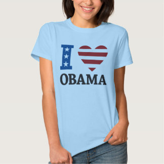 Amo la camiseta de Obama Remeras
