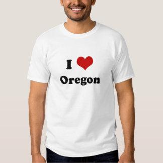 Amo la camiseta de Oregon Playera