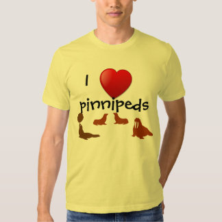 Amo la camiseta de Pinnipeds Playeras