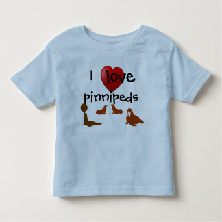 Amo la camiseta de Pinnipeds Polera