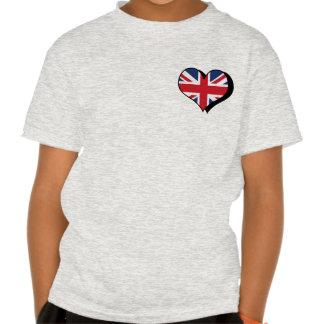 Amo la camiseta de Reino Unido Playera