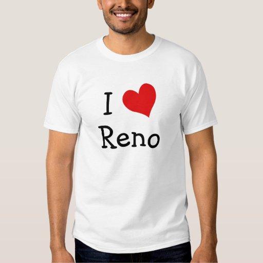 Amo la camiseta de Reno Remeras