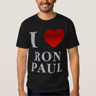 Amo la camiseta de Ron Paul Remera