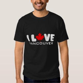 Amo la camiseta de Vancouver el   Playeras