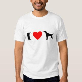 Amo la camiseta de Vizslas Playeras