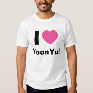 Amo la camiseta de YoonYul Remeras