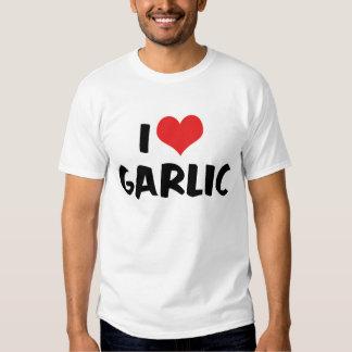 Amo la camiseta del ajo playera