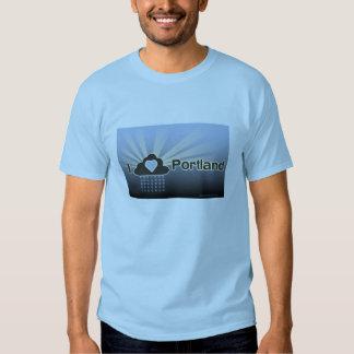 Amo la camiseta del azul de Portland Playera