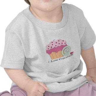Amo la camiseta del bebé de las magdalenas