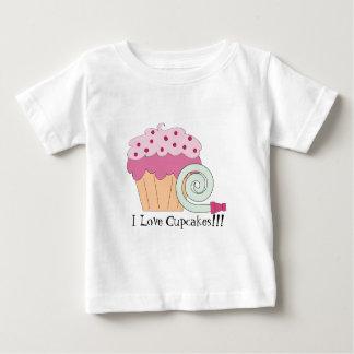 Amo la camiseta del bebé de las magdalenas playeras