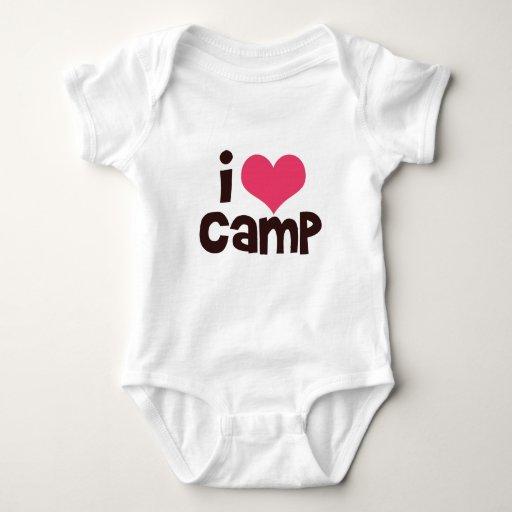 Amo la camiseta del bebé del campo