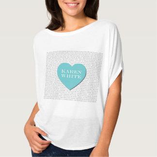 Amo la camiseta del blanco de Karen