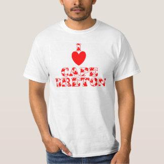 Amo la camiseta del bretón del cabo poleras