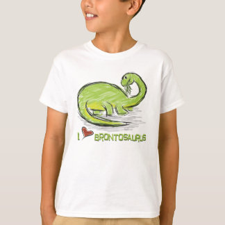 Amo la camiseta del Brontosaurus