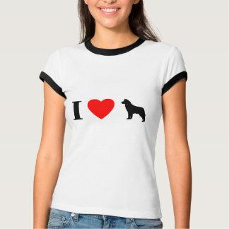 Amo la camiseta del campanero de las señoras de