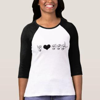 Amo la camiseta del codo del ASL (lenguaje de Remeras